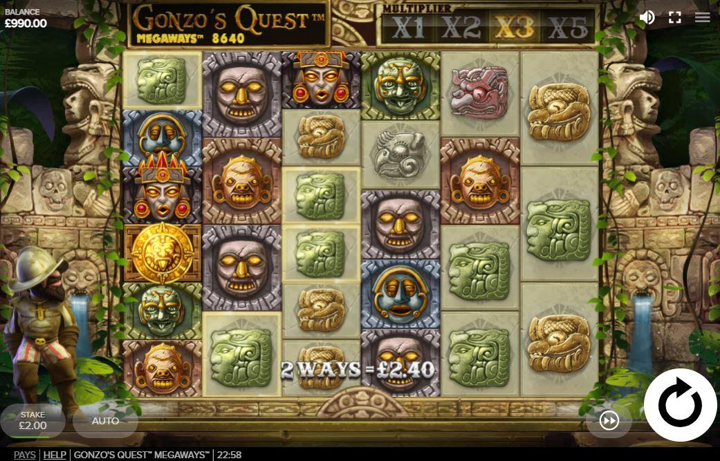 слот Gonzo quest Megaways